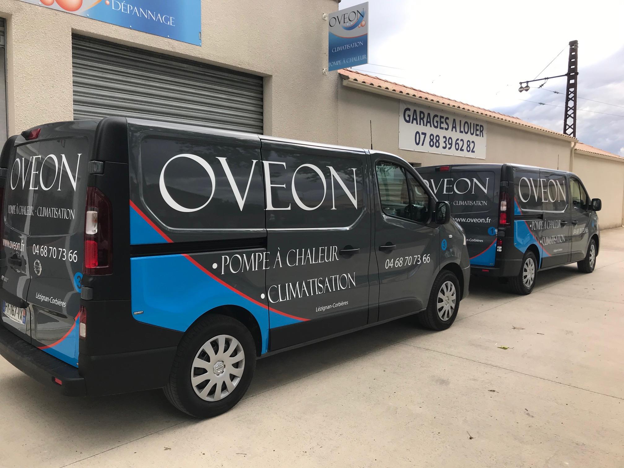 publicité sur véhicule ovéon climatisation